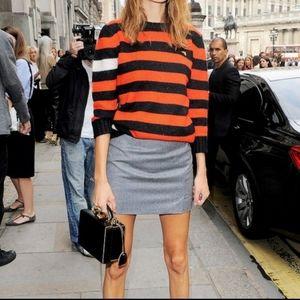J. Crew gray wool mini Skirt